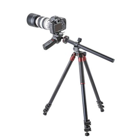 Orbit Aluminum Tripod For Dslr Photo  Amp  Video Cameras  3 Section Extension Legs  With Pistol Grip Ballhead  Bubble Level  With Bag  69 Quot