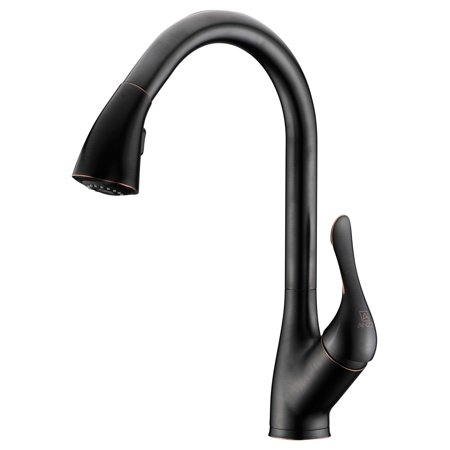 Orb Sprayer - ANZZI Accent Series Single-handle Pull-down Sprayer Kitchen Faucet In Oil Rubbed Bronze - KF-AZ031ORB