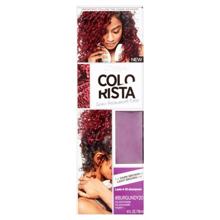 Dark Blue Hair Spray (L'Oreal Paris Colorista Semi-Permanent Hair Color For Brunettes, #Burgundy, 1)