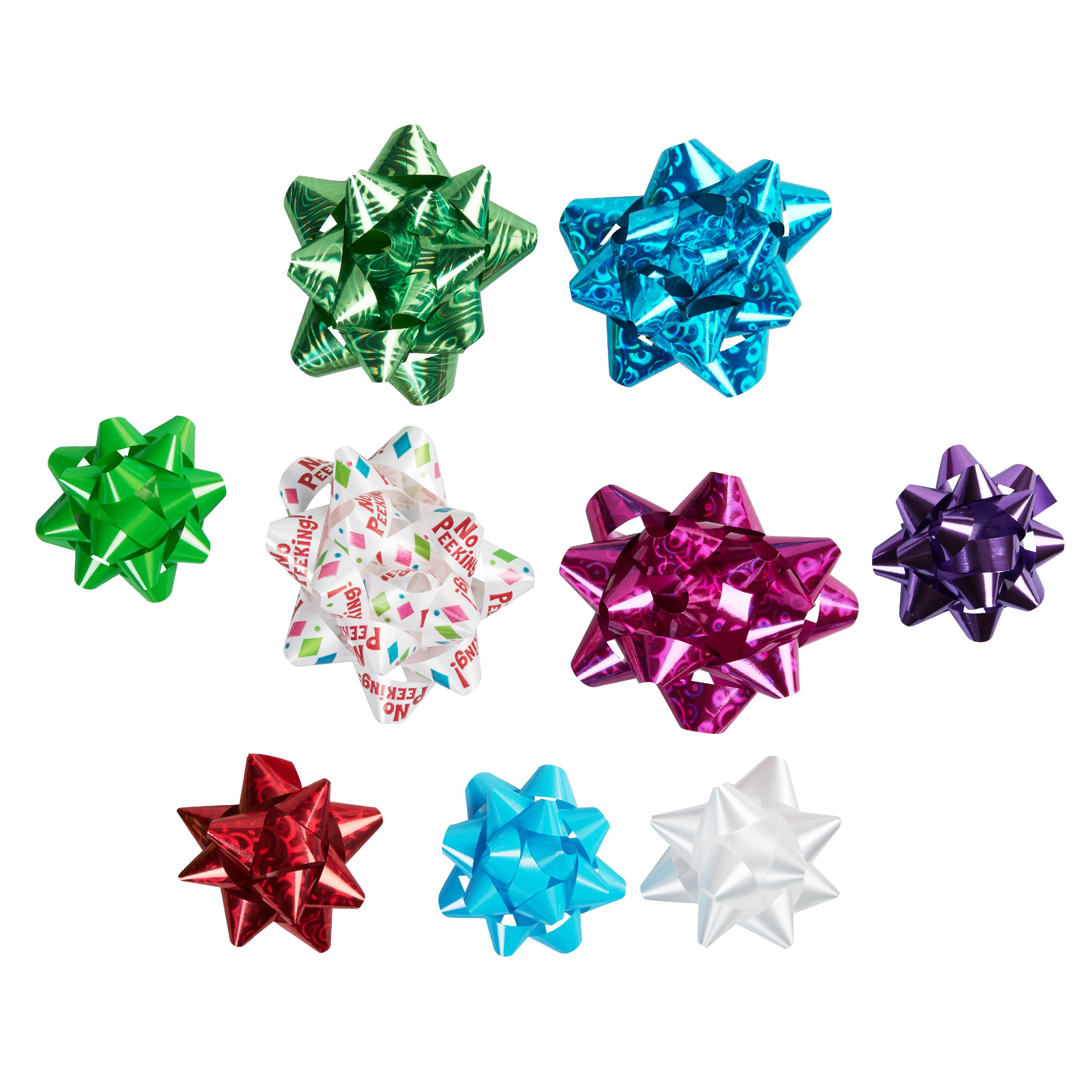 Holiday Time Assorted Bright Multicolor Gift Bows, 20 count
