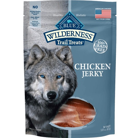 Blue Buffalo Trail Treat BB00550 Grain-Free Chicken Jerky Natural Dog Treat, 3.25 oz