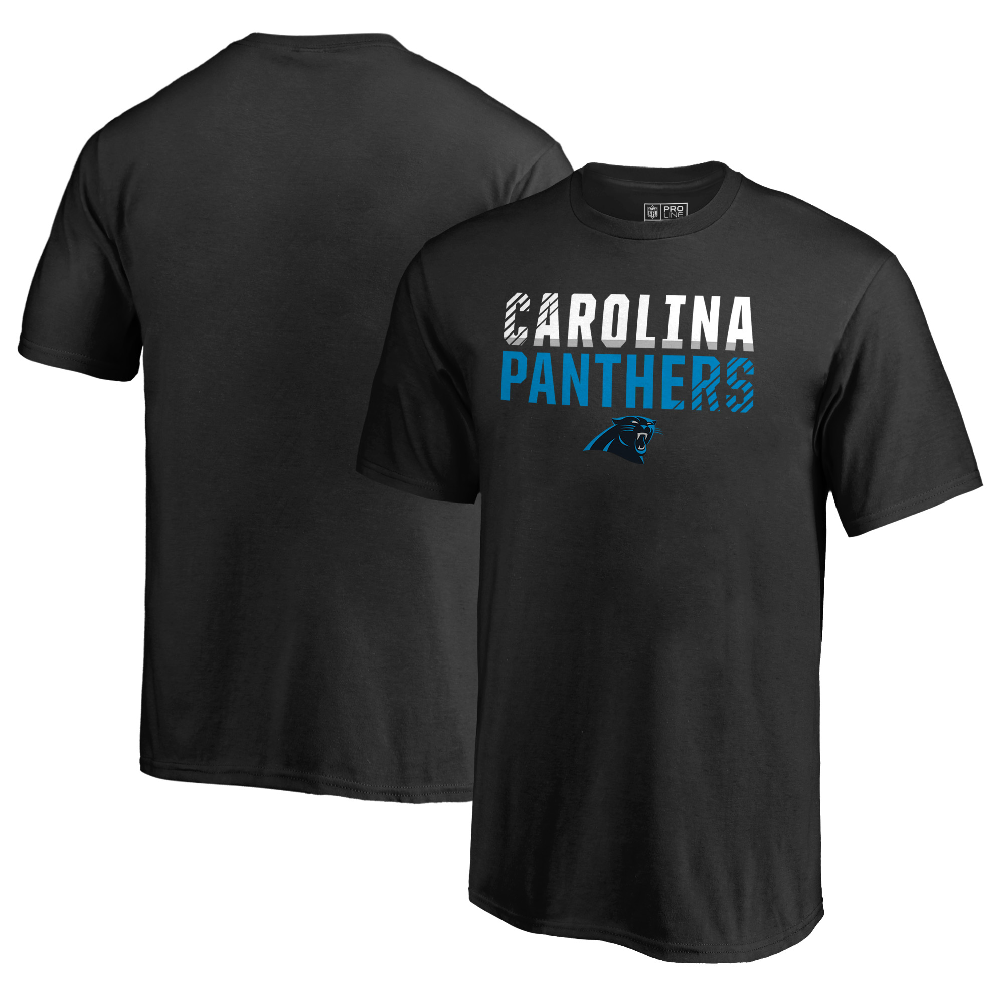 Carolina Panthers NFL Pro Line by Fanatics Branded Youth Iconic Collection Fade Out T-Shirt - Black