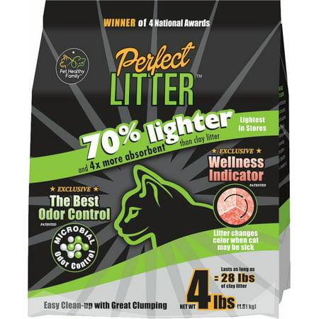 Perfect Litter, Alert with Wellness Indicator Cat Litter, 4-lb