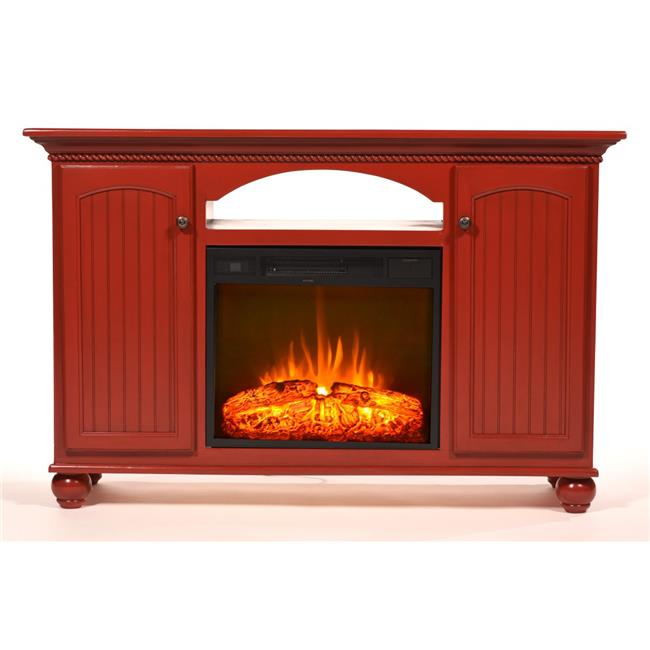 Eagle Furniture FP16156BC 56 in. American Premier Electric Fireplace TV Console, Burnt