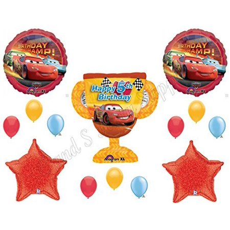 DISNEY CARS 5th Birthday Balloons Decoration Supplies Party Lightning McQueen