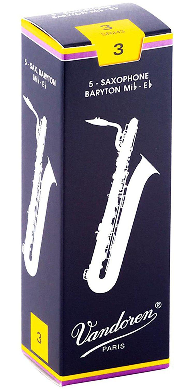 Baritone Saxophone Reeds Strength 3 Box of 5, Baritone Saxophone Reeds Strength 3 Box of 5... by