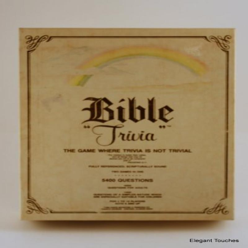 Bible Trivia: The Game Where Trivia Is Not Trivial by