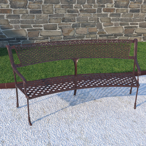Darby Home Co Back Bay Aluminum Garden Bench