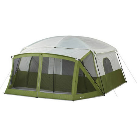 Ozark Trail 12-Person Cabin Tent with Screen Porch ...