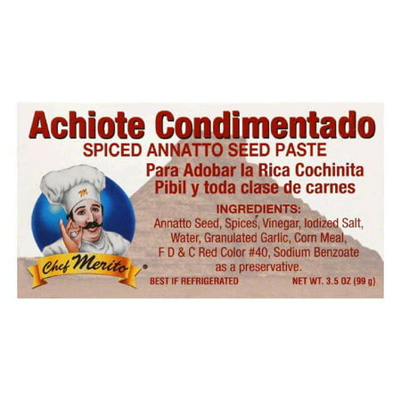 Chef Merito Achiote Seasoning Paste, 3.5 OZ (Pack of 12)