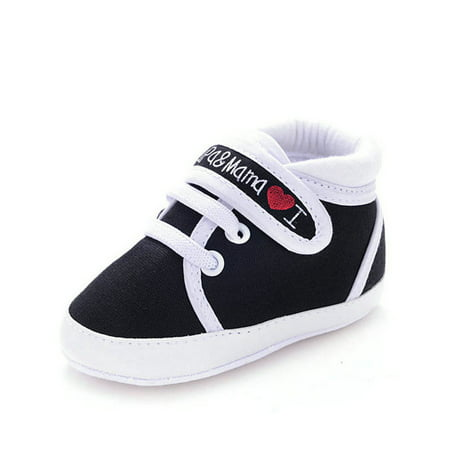 Enjoyofmine Newborn Baby Boy Girls Soft Soled Non-Slip High Top Casual Sneakers Shoes