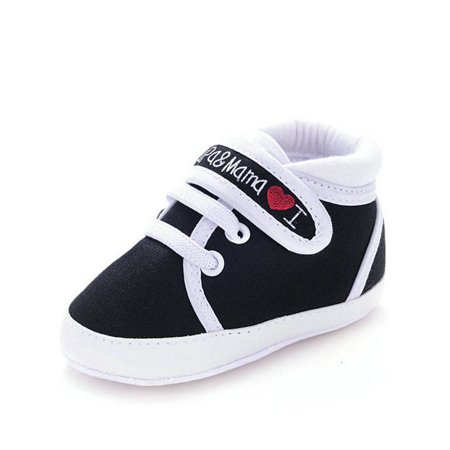 Enjoyofmine Newborn Baby Boy Girls Soft Soled Non-Slip High Top Casual Sneakers Shoes - Toddler Slip