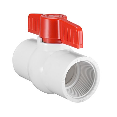PVC Ball Valve Water Pipe Threaded Ends 1-1/4