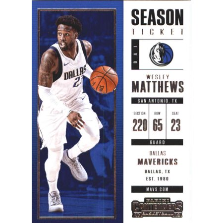 - 2017-18 Panini Contenders Season Ticket #75 Wesley Matthews Dallas Mavericks Basketball Card