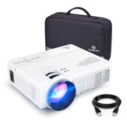 VANKYO Leisure 3 1080P Supported Mini Projector with 40000 Hours Lamp Life, LED Portable Projector Support 170'' Display, Compatible with TV Stick, PS4, HDMI, VGA, TF, AV and USB (White)