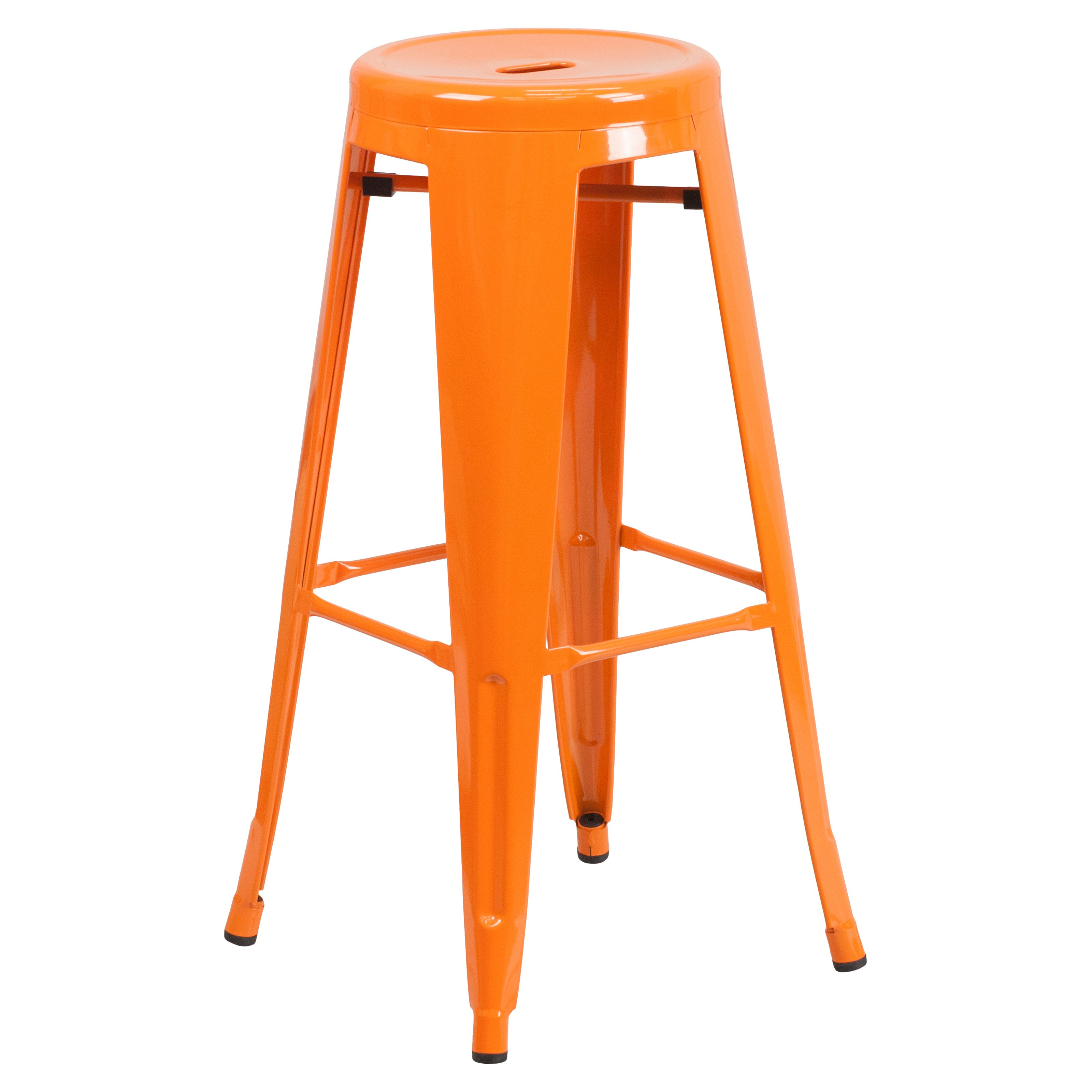 Flash Furniture Carlisle 30 In Metal Bar Stool Walmart Com