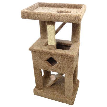 (New Cat Condos 58'' Premier Solid Wood Cat Tree)