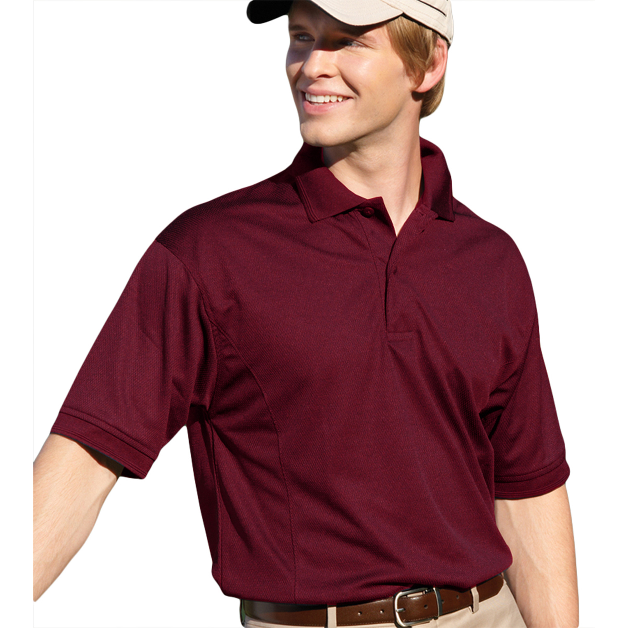 00820599181221 MENS PERFORMANCE GOLF SHIRT 2800 BURGUNDY 4XL