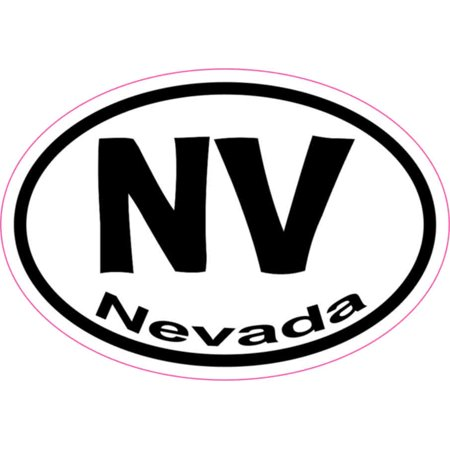 3in x 2in oval nv nevada sticker vinyl car window state bumper stickers
