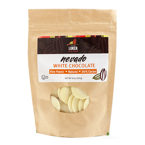 Chocolate Couverture Coins by CasaLuker - Nevado 34% (8 ounce)