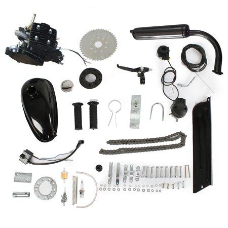 UBesGoo Hot Bike Motor 2-Stroke 50cc Petrol Gas Motorized Bicycle Engine Kit DIY Black