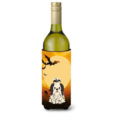 Halloween Shih Tzu Black White Wine Bottle Beverge Insulator Hugger BB4354LITERK](Halloween Decorated Wine Bottles)