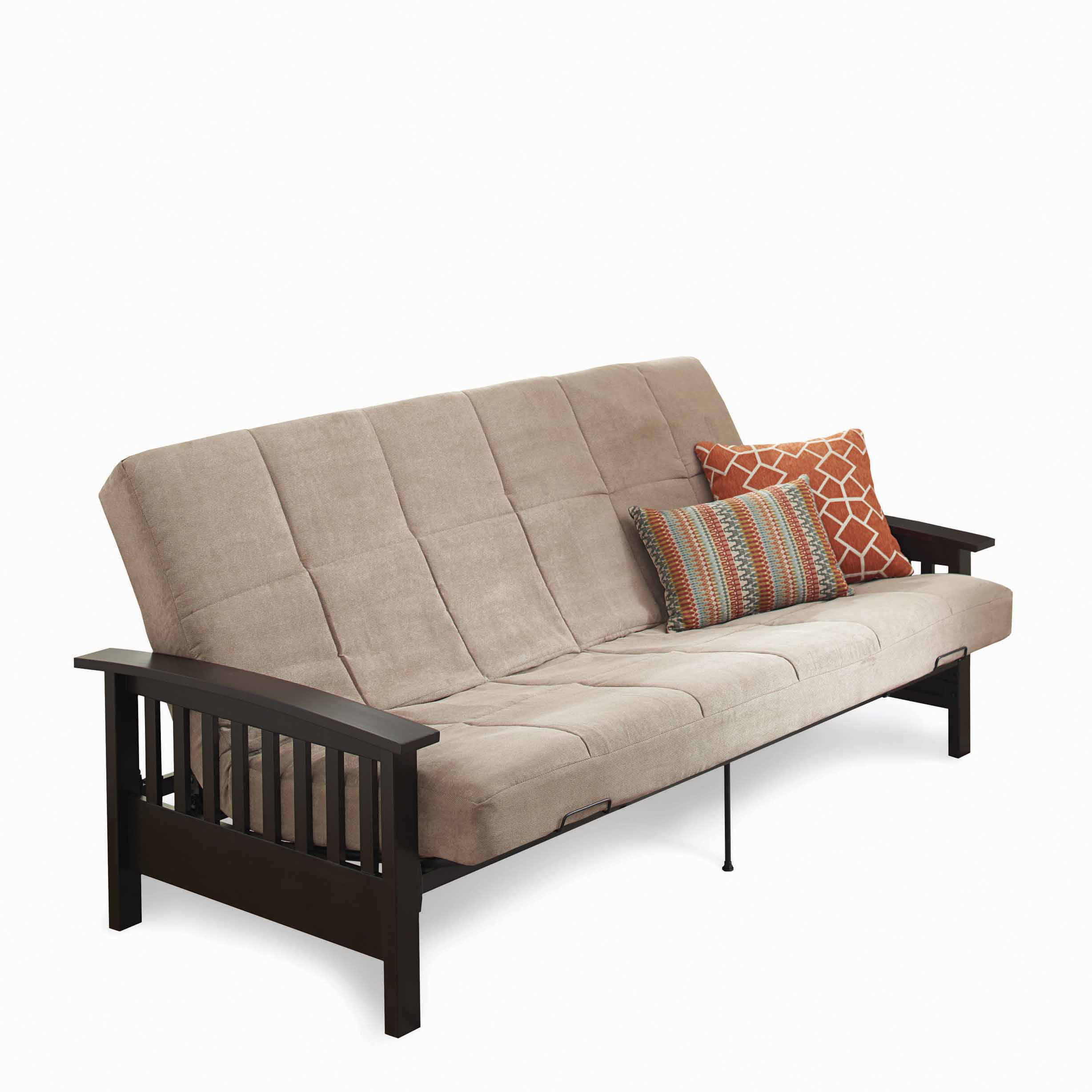 Better Homes And Gardens Mission Wood Arm Futon Gray