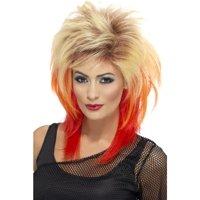 80's Mullet Costume Wig Adult: Blonde & Red