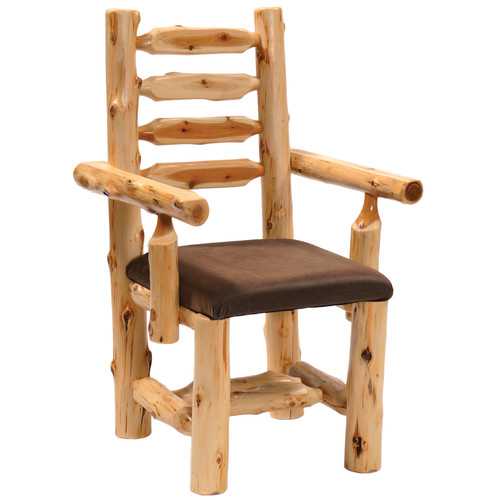Fireside Lodge Traditional Cedar Log Armchair