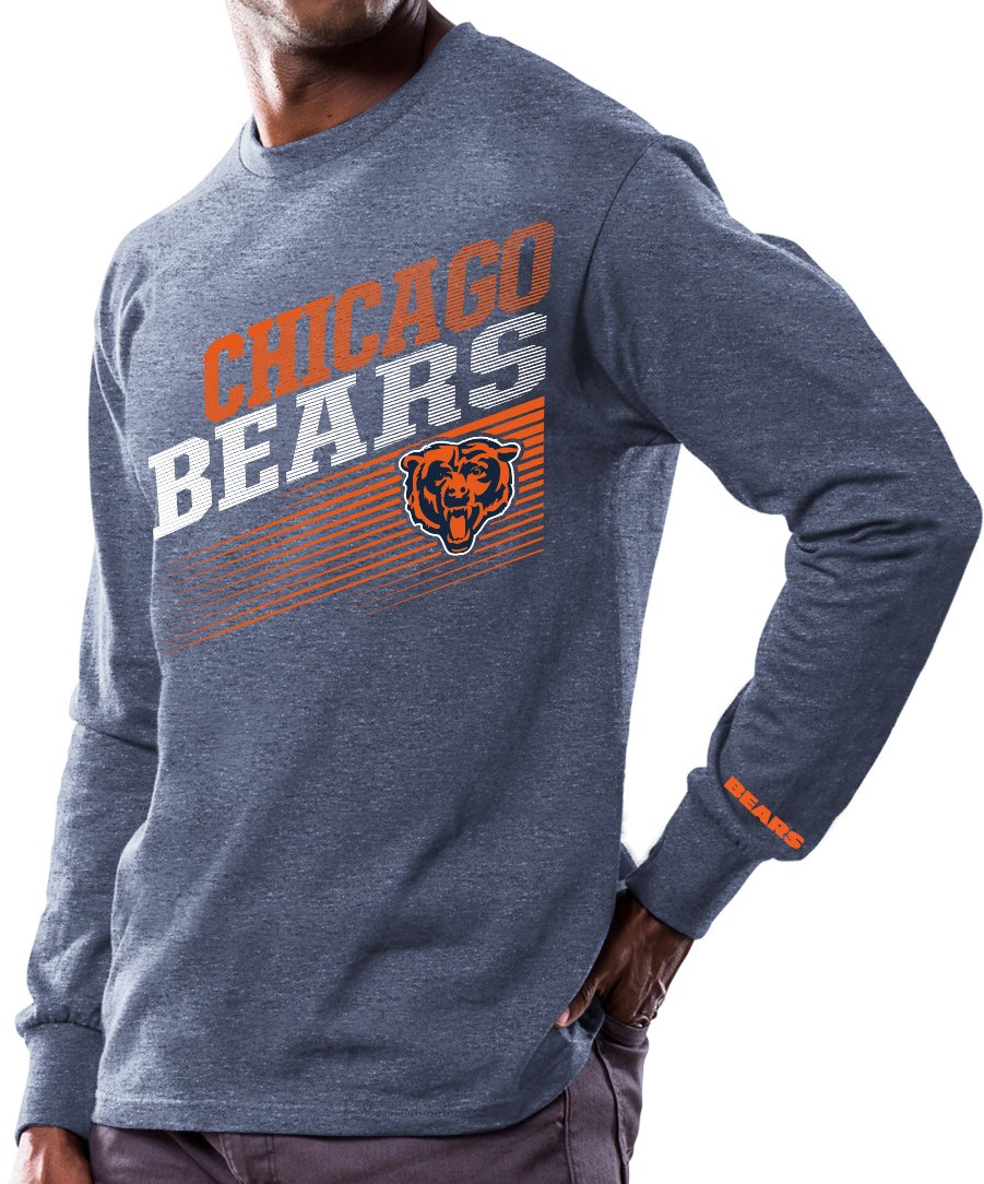 """Chicago Bears Majestic NFL """"Shed Blockers"""" Long Sleeve Men's T-Shirt by Majestic"""