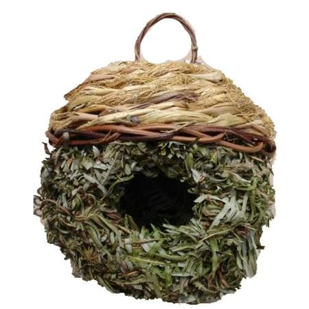 The Crabby Nook Birdhouse Bird Roosting Nests Handwoven Grass Wild Birds Houses Gardening Decor