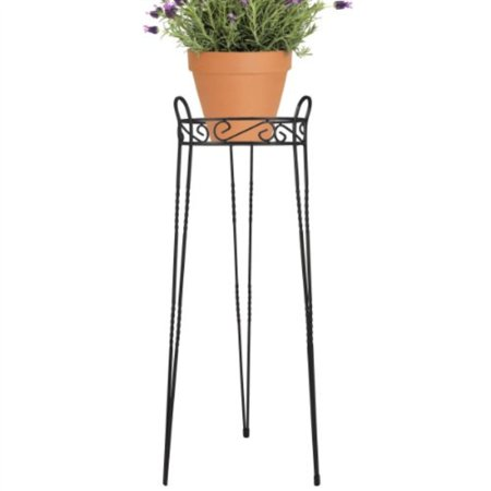 Cobraco Scbps1030 B 30 In Canterbury Scroll Top Plant Stand Black