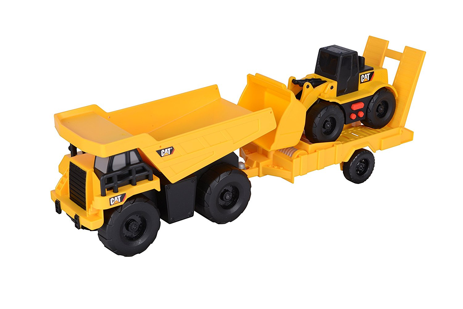 Caterpillar Truck & Trailer Dump Truck with light and sounds Wheel Loader by Toy State International Limited