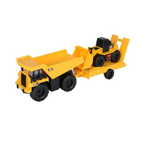 Caterpillar Truck & Trailer Dump Truck with light and sounds Wheel Loader