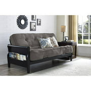Better Homes And Gardens Wood Arm Futon With 8 Coil Mattress Multiple Colors