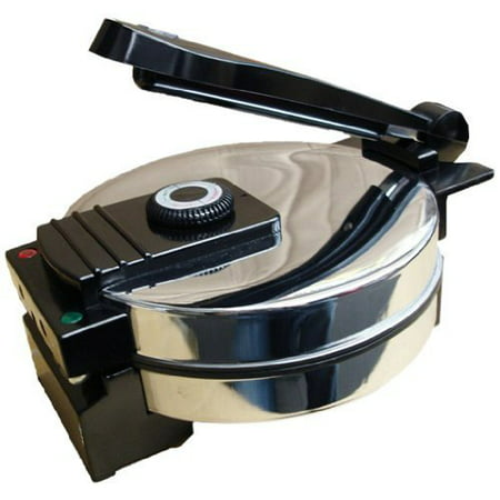 Saachi SA1650 Electric Non-Stick Roti Chapati Flat Bread Wraps/Tortilla Maker with Temperature