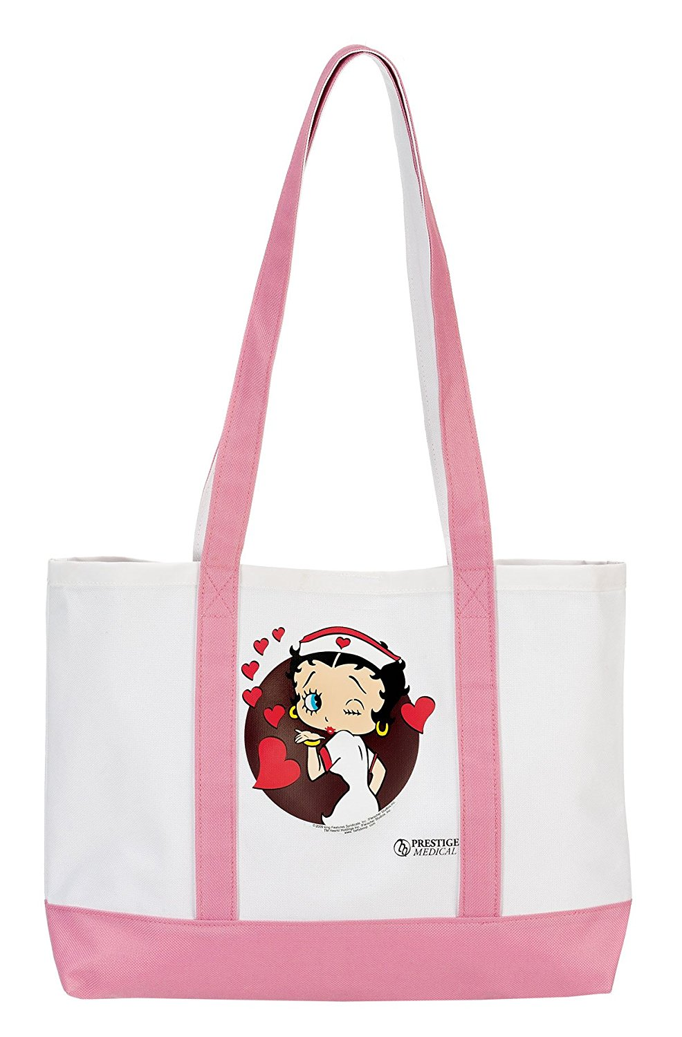 e8cc69fc3196 Prestige Medical Canvas Tote Bag, Nurse Trio Pink, Large