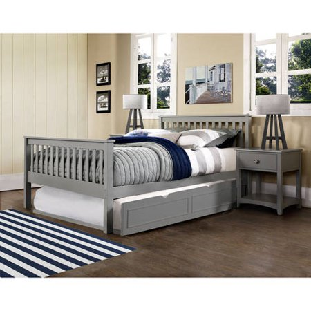Barrett Twin Bed With Trundle Grey Finish Walmart Com