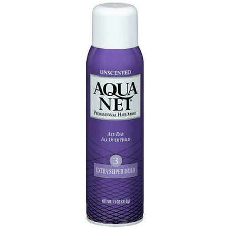 (2 Pack) Aqua Net Professional Hairspray Extra Super Hold Unscented, 11.0