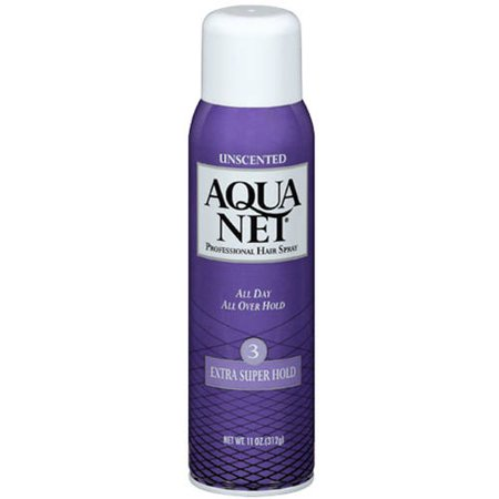 (2 Pack) Aqua Net Professional Hairspray Extra Super Hold Unscented, 11.0 OZ - Gold Hair Color Spray