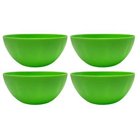 Set of 4 Small Green Dipping Bowls- BPA Free- Microwave Safe (Green) - Olive Oil Dipping Bowl