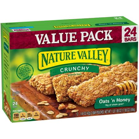 ... Oats 'n Honey Crunchy Granola Bars 12-2 ct Pouches - Walmart.com