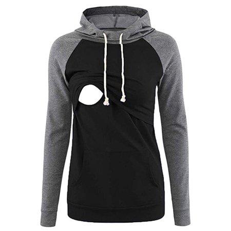 Comfy Hoodie Set - Relimart Maternity Breastfeeding Sweatshirts Comfy Layered Nursing Hoodies for Women