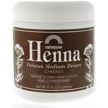 Rainbow Research - Henna air Color,  Persian Medium Brown, 4 oz