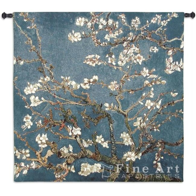 FineArtTapestries 4590-WH Almond Blossom Large Wall Tapestry