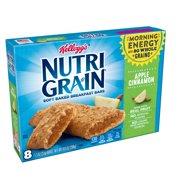 Kellogg's Nutri-Grain Soft Baked Breakfast Bars, Apple Cinnamon, 10.4 Oz, 8 Ct