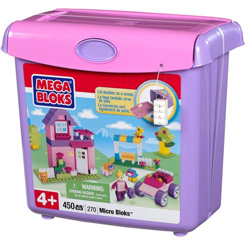 Mega Bloks Micro Bloks Scoop 'N Build Play Set, Pink