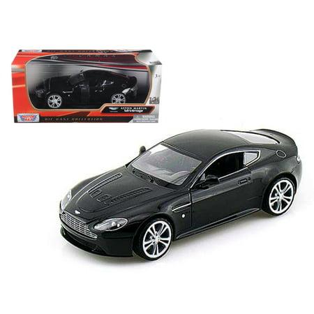 Aston Martin V12 Vantage Black 1/24 Diecast Car Model by Motormax