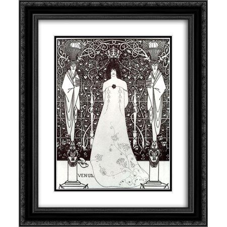 Aubrey Beardsley 2x Matted 20x24 Black Ornate Framed Art Print 'Venus between Terminal Gods'
