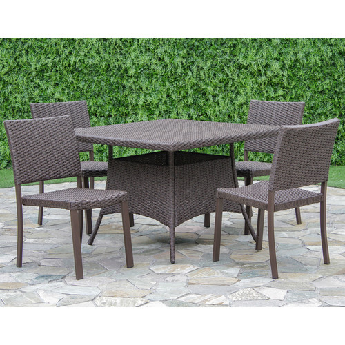 Brayden Studio Bangs 5 Piece Dining Set